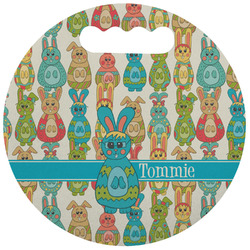 Fun Easter Bunnies Stadium Cushion (Round) (Personalized)