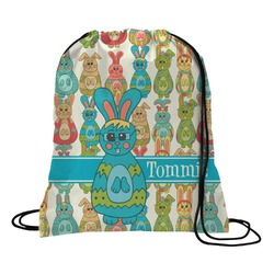 Fun Easter Bunnies Drawstring Backpack (Personalized)