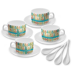 Fun Easter Bunnies Tea Cup - Set of 4 (Personalized)