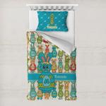 Fun Easter Bunnies Toddler Bedding w/ Name or Text
