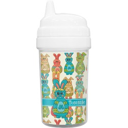 Fun Easter Bunnies Toddler Sippy Cup (Personalized)