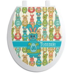 Fun Easter Bunnies Toilet Seat Decal (Personalized)