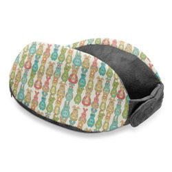 Fun Easter Bunnies Travel Neck Pillow (Personalized)