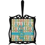 Fun Easter Bunnies Trivet with Handle (Personalized)