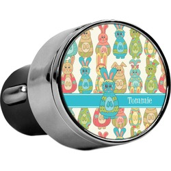 Fun Easter Bunnies USB Car Charger (Personalized)
