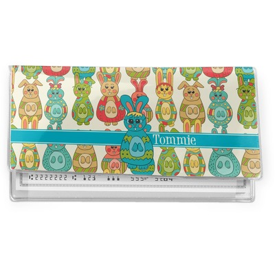 Fun Easter Bunnies Vinyl Checkbook Cover (Personalized)