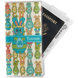 Fun Easter Bunnies Travel Document Holder