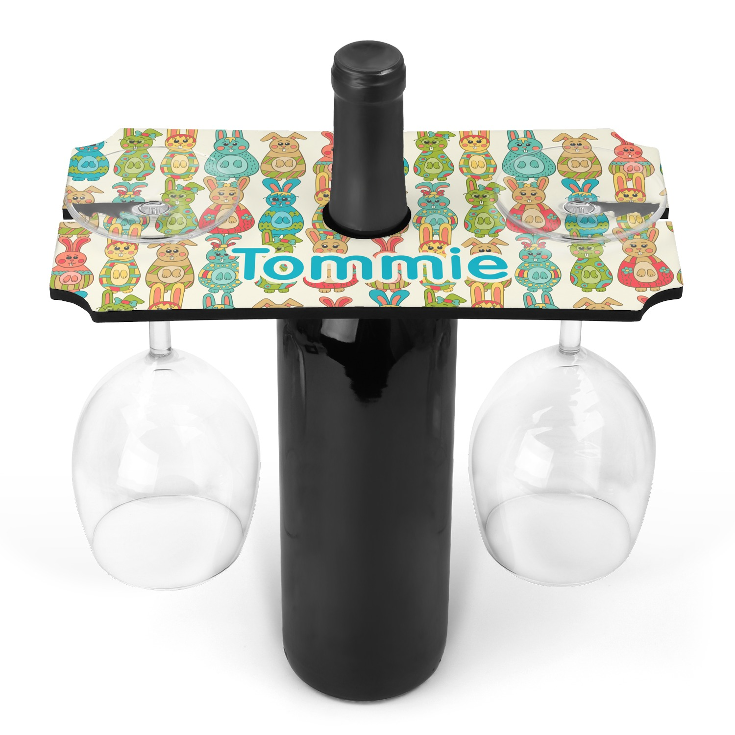 fun easter bunnies wine bottle glass holder personalized youcustomizeit. Black Bedroom Furniture Sets. Home Design Ideas