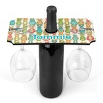 Fun Easter Bunnies Wine Bottle & Glass Holder (Personalized)