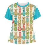 Fun Easter Bunnies Women's Crew T-Shirt (Personalized)