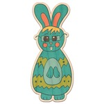Fun Easter Bunnies Genuine Maple or Cherry Wood Sticker (Personalized)