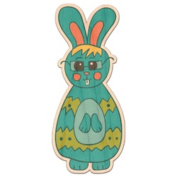 Fun Easter Bunnies Genuine Wood Sticker (Personalized)