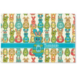 Fun Easter Bunnies Woven Mat (Personalized)