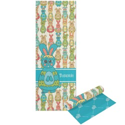 Fun Easter Bunnies Yoga Mat - Printable Front and Back (Personalized)