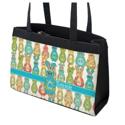 Fun Easter Bunnies Zippered Everyday Tote (Personalized)