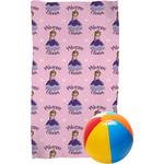 Custom Princess Beach Towel (Personalized)