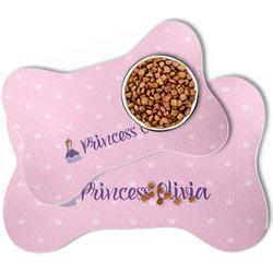 Custom Princess Bone Shaped Dog Food Mat (Personalized)