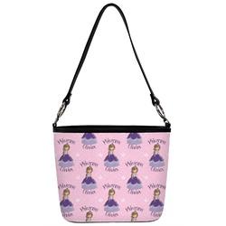 Custom Princess Bucket Bag w/ Genuine Leather Trim (Personalized)