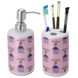 Custom Princess Ceramic Bathroom Accessories Set (Personalized)