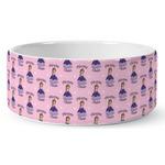 Custom Princess Ceramic Dog Bowl (Personalized)