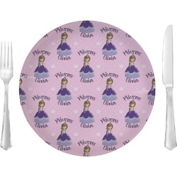 """Custom Princess Glass Lunch / Dinner Plates 10"""" - Single or Set (Personalized)"""