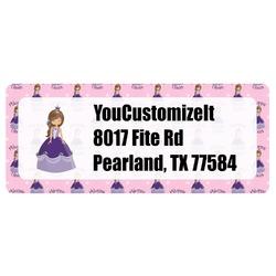 Custom Princess Return Address Label (Personalized)