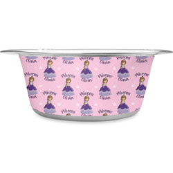 Custom Princess Stainless Steel Dog Bowl (Personalized)