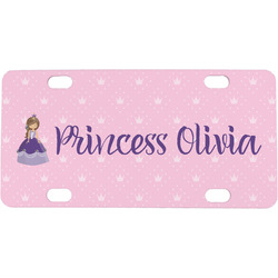 Custom Princess Mini / Bicycle License Plate (4 Holes) (Personalized)