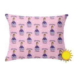 Custom Princess Outdoor Throw Pillow (Rectangular) (Personalized)