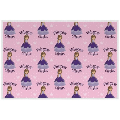 Custom Princess Laminated Placemat w/ Name All Over