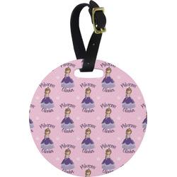 Custom Princess Round Luggage Tag (Personalized)