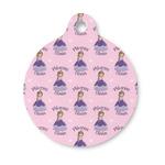 Custom Princess Round Pet Tag (Personalized)