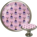 Custom Princess Cabinet Knob (Silver) (Personalized)