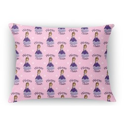 Custom Princess Rectangular Throw Pillow Case (Personalized)