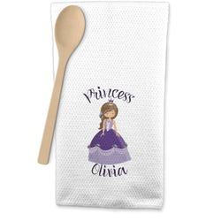 Custom Princess Waffle Weave Kitchen Towel (Personalized)