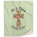 Easter Cross Sherpa Throw Blanket