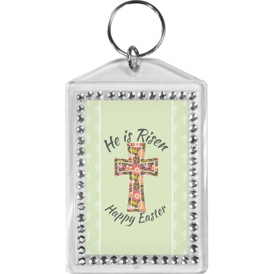 Easter Cross Bling Keychain