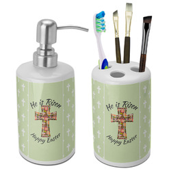 Easter Cross Bathroom Accessories Set (Ceramic)