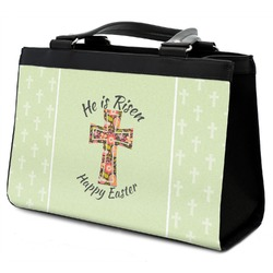 Easter Cross Classic Tote Purse w/ Leather Trim