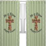 Easter Cross Curtains (2 Panels Per Set)
