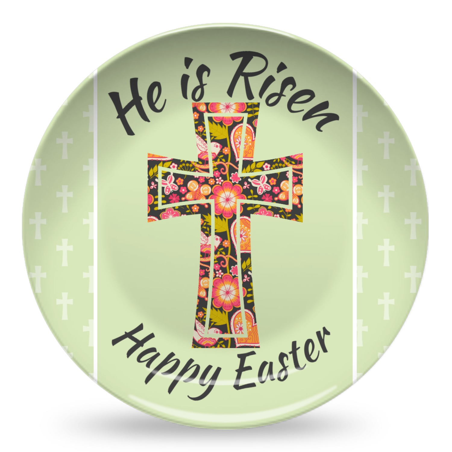 easter cross microwave safe plastic plate composite polymer youcustomizeit. Black Bedroom Furniture Sets. Home Design Ideas