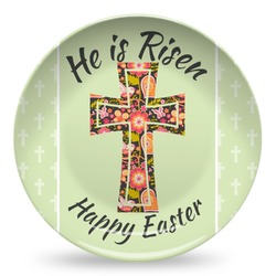 Easter Cross Microwave Safe Plastic Plate - Composite Polymer