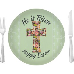 "Easter Cross 10"" Glass Lunch / Dinner Plates - Single or Set"
