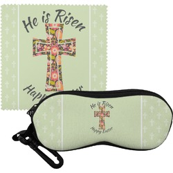 Easter Cross Eyeglass Case & Cloth