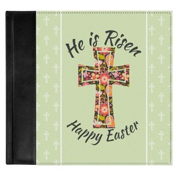 Easter Cross Genuine Leather Baby Memory Book