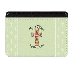 Easter Cross Genuine Leather Front Pocket Wallet