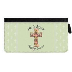 Easter Cross Genuine Leather Ladies Zippered Wallet