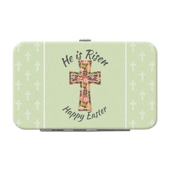 Easter Cross Genuine Leather Small Framed Wallet
