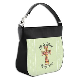 Easter Cross Hobo Purse w/ Genuine Leather Trim
