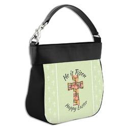 Easter Cross Hobo Purse w/ Genuine Leather Trim
